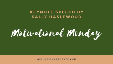 Motivation Mumbler Monday - keynote speech at FSB networking event in Harrogate, with Sally Haslewood, successful founder of the Harrogate Mumbler.