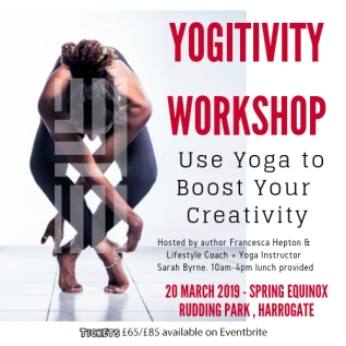 Yogitivity© – embracing the benefits of yoga to release your inner creative. Join one of our Yogitivity Workshops held in the glorious grounds of Rudding Park where you will learn to use yoga to improve your creativity as a writer.