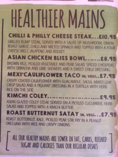 Healthier menu options from S Bar in Harrogate