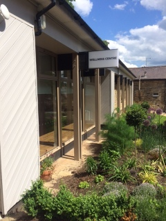 Gardens in front of the Wellness Centre at Harrogate Ladies College